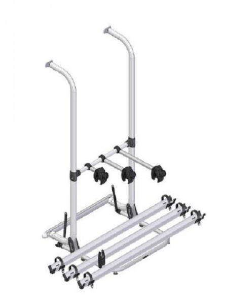 Bicycle rack for 3 bicycles