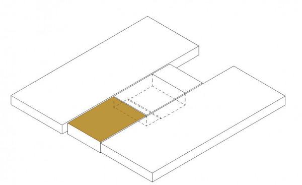 Matratzentopper Mittelteil unten (SA Kleiderschrank)