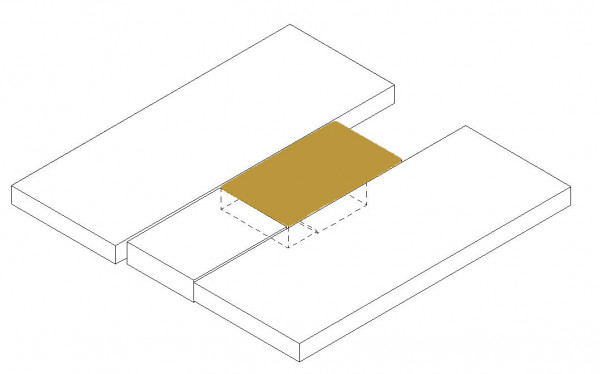 Mattress topper middle section above (option wardrobe)