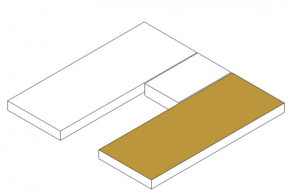 Fitted sheet lengthwise single bed