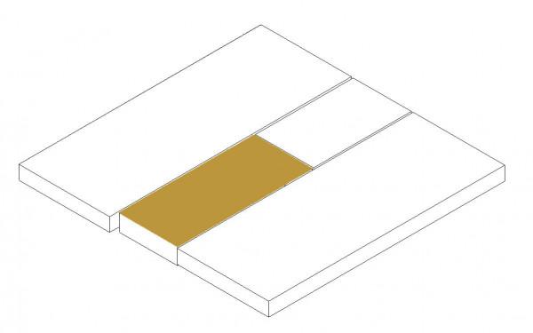 Matratzentopper Mittelteil unten (SA Doppelbett)